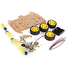 ZK-4 Motor DIY Smart Robot 4WD Car Chassis Kit with Speed Encoder Battery Box - Multi-Color