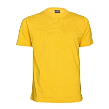 Yellow Slim Fit Plain T-Shirt