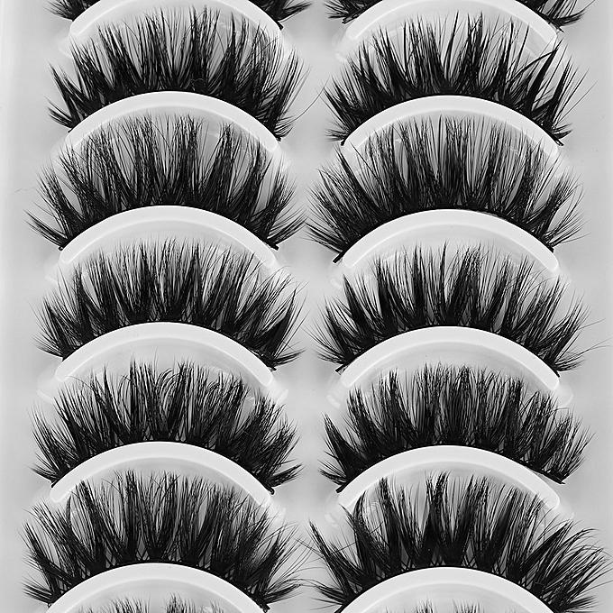 0c883e3ef2b ... NEW 10 pairs Mink Eyelashes 3D Natural False Eyelashes 3d Mink Lashes  Soft EyeExtension Makeup Kit ...