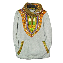 Grey Dashiki Snood {Unisex}