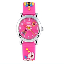 SimpleHome Fashion Casual Waterproof Boys Girls Quartz Watches Outdoor Sport Students Wristwatches Best Gifts For Kids(Rose)