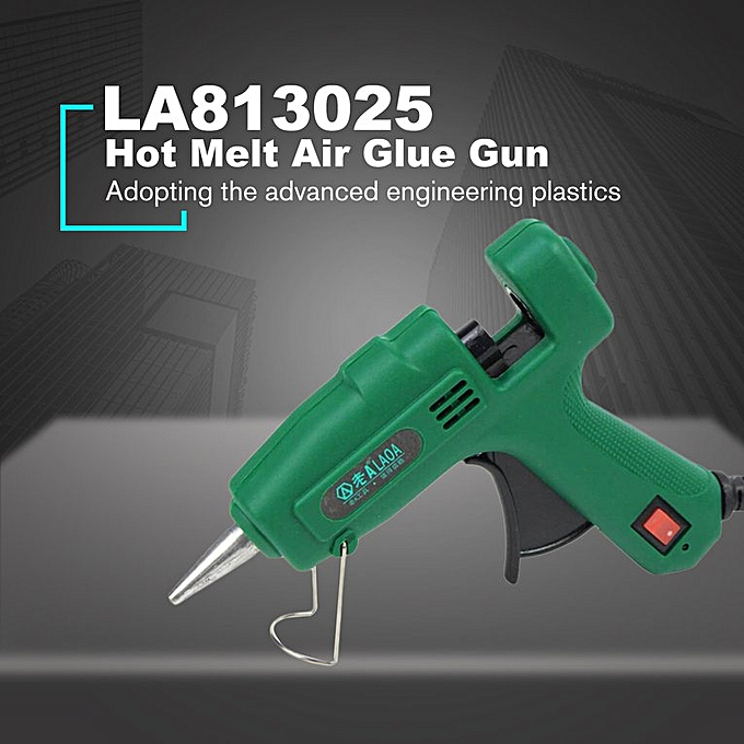 LA813025 25W Hot Melt Glue Gun Glue Stick Industrial Gun Heat Temperature  Tool Green & Black