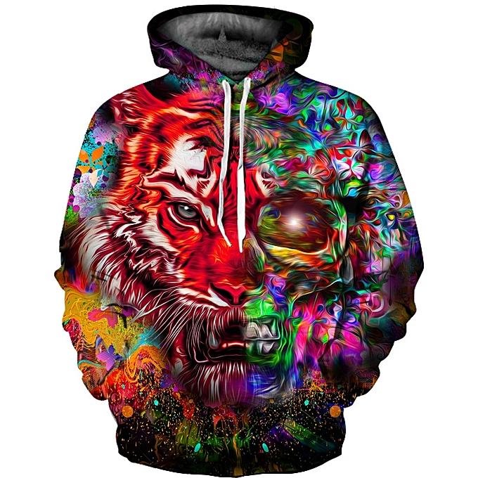 463a15435f2d Generic 3D Cool Tiger Men and Women s Hoodie Coat   Best Price ...