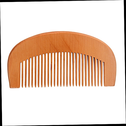 Natural Wide Tooth Wood Comb Peach Wood No Static Massage Hair Health Comb Wooden