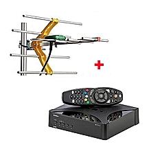 GOtv Digital Set Box Decoder With GOTV Digital Aerial- - Black