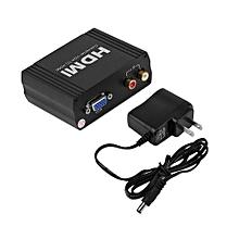 VGA to HDMI Converter VGA + R/L Audio to HDMI VGA To HDMI Extractor Converter