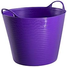 Portable Plastic Multipurpose Storage Basket Organizer Holder/Tubtrug purple