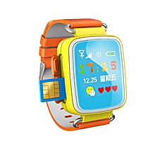 Hot Kid GPS Smart Watch Wristwatch SOS Call Location Finder Locator Device Tracker For Kid Safe Anti Lost Monitor Baby Gift Q60  (Color:Orange)