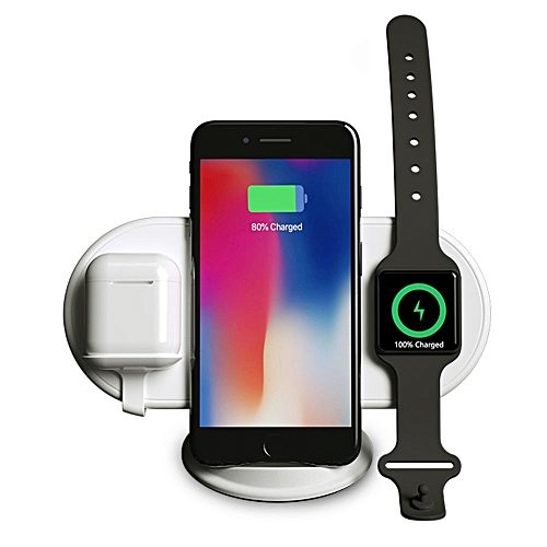 pretty nice 12815 aac36 wireless charger stand phone holder for Apple Watch iphone XS MAX XR 8 plus  X iwatch 2 3 4 Airpods chargeur induction (wireless charger)