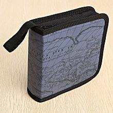 New 80 Disc CD Holder DVD Case Storage Wallet VCD Organizer Faux Leather Bag Blue