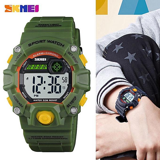 Skmei Children Sports Watches Fashion Led Quartz Digital Watch Boys Girls Kids 50m Waterproof Wristwatches Watches