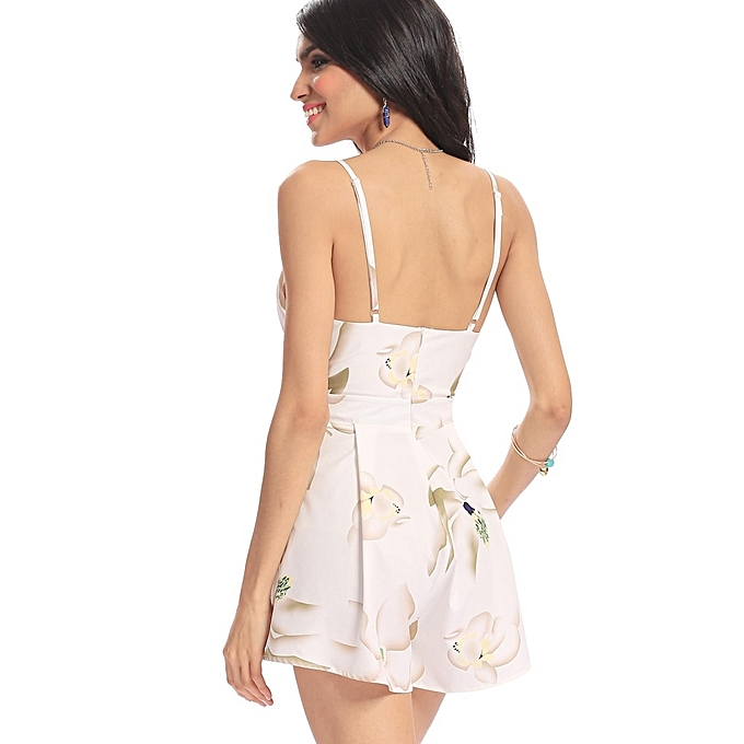 894c09593d ... Yoins Women New High Fashion Clothing Casual V-neck Sleeveless Floral  Print Playsuit with Cut