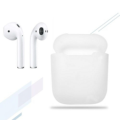 new arrival 6152f a466d White Soft Silicone Case Shock Proof Protective Cover For Apple AirPods  Earphone