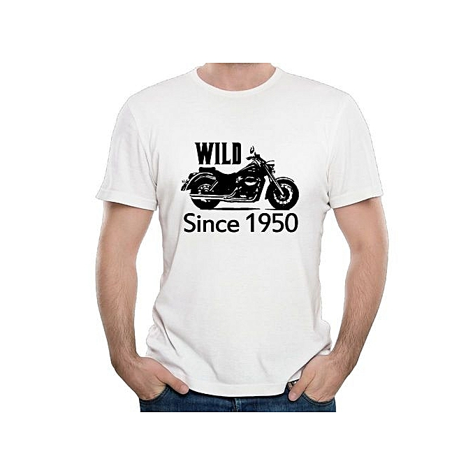 60th Birthday Gifts Wild Since 1950 Motorcycle Utility T Shirts Summer Men Round Neck