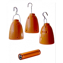 Solar Multi Light - Orange with White Lighting
