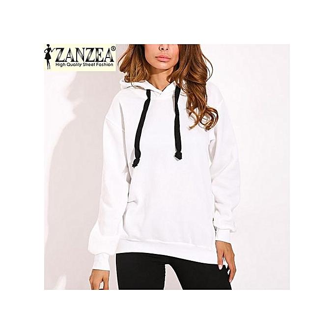 e4cb487c3de ZANZEA Trendy Women Casual Hoodies Sweatshirts Hoody Pullover Leisure 2017 Autumn  Long Sleeve Hem Split Solid