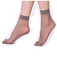 10 Pairs Ultrathin Transparent  Fiber Crystal Elastic Short Socks GY