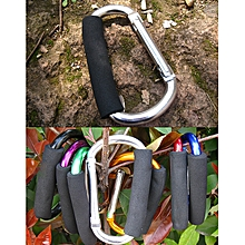 AT7607 Quick Release D - Shaped Carabiner Buckle Clip For Outdoor Hiking Camping - Silver