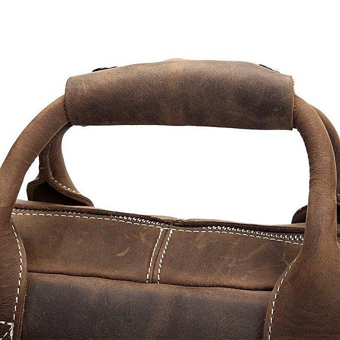 0c2b7ac7b832 ... BLUESEBE Men Handmade Dark Brown Vintage Leather Briefcase Messenger  Bag 8012 ...