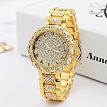 Fohting Luxury Ladies Watches Bracelet Metal Quartz Bracelet For Women Watches -gold - gold - One size