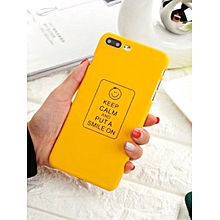 Phone Case Letter Smiling Face Pattern Cover For Iphone 6/6S/6 Plus/6S Plus/7/7 Plus____IPHONE7____black