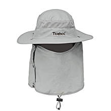 Men Summer Outdoor 360 Degree Cover Sun Breathable Collapsible Fishing Cap Sunshade Hat