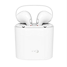 TWS Twins Wireles Earphone Mini Bluetooth V4.2 Earbuds Stereo Headset For Iphone X 8 8 PLUS 7 Plus 7 6s 6 Plus Galaxy S8 White