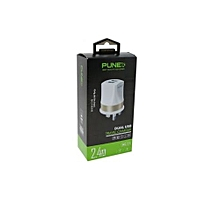 High Speed Dual USB Travel Charger , 2 USB Ports , White