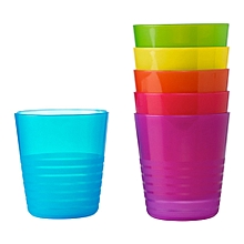 6 Assorted Coloured Plastic Mugs - IKEA