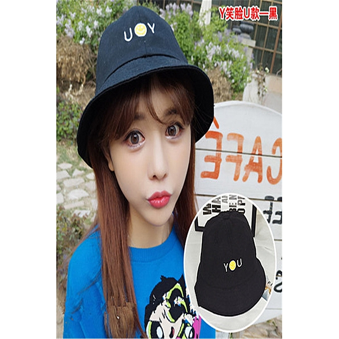 Fashion 1YU style(black)Fisherman hat men and women Korean hat female Han  Ban Bai take a student to hide a sun hat in summer spring day to fasten to  defend ... fba8f4442f9
