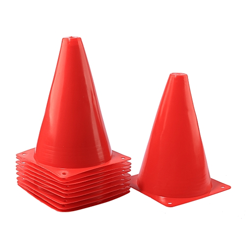 10Pcs 7 Inch Multipurpose Sport Football Training Traffic Cones Activity Cones for Kid and Adult - Red
