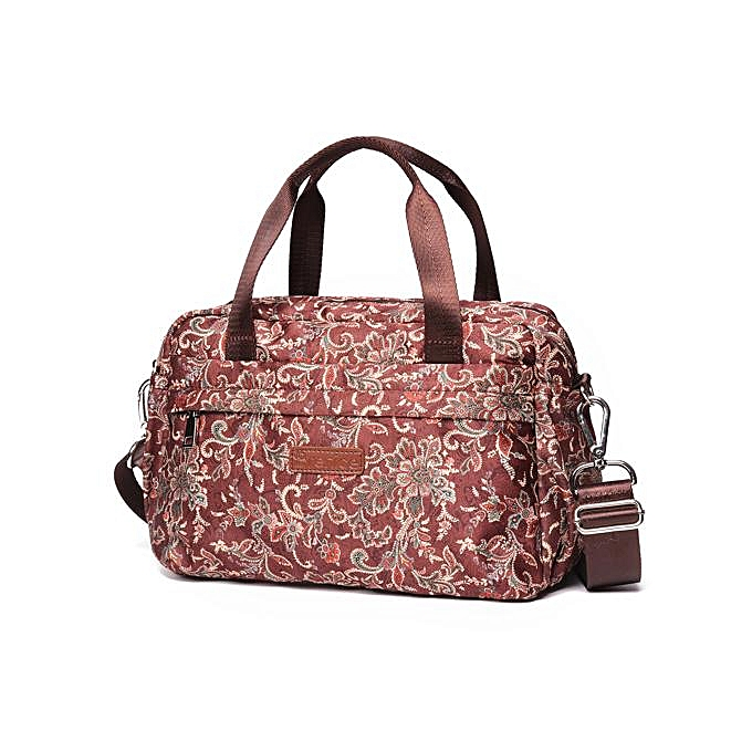 18b78c274ee3 Brenice leisure life lightweight large handbags ethnic retro printed nylon  cloth handbag shoulder bag