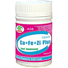Calcium,Zinc, Iron Plus ( For Adult and Child) 250mg*60's