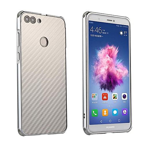 wholesale dealer 1a34b dd0ef Luxury Metal Case For Huawei P Smart / PSmart Aluminum Frame & Carbon Fiber  Back Cover Shockproof Shell Capa Mobile Accessories Phone Cases (Silver)