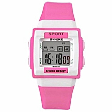 Fashion Top Brand LED Digital Watches Men Famous Sport Wrist Watch Male Clock Electronic Digital-watch(Pink)