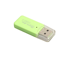 jiuhap store High Speed Mini USB 2.0 Micro SD TF T-Flash Memory Card Reader Adapter-Green