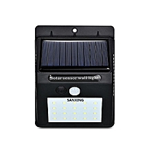 super bright 20 LEDs Solar Power PIR Motion Sensor Wall Light Waterproof Garden Lamp-Black