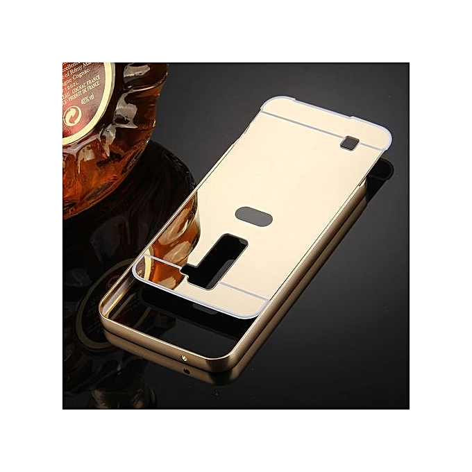 For LG K10 Electroplating Mirror Push Pull PC Protective Case Back Shell Cover .