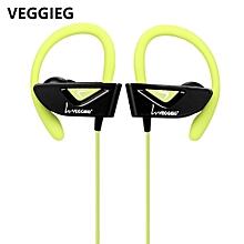 V8 Wearable Sports Bluetooth 4.1 Earphones-GREEN