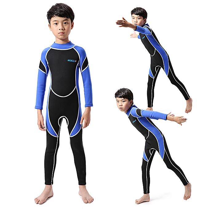 feaa5253a3227 ... Kids Neoprene Diving Wetsuit Boys Girls Swimsuits Long Sleeve UV  Protection Back Zipper Swimwear ...