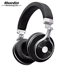 LEBAIQI Bluedio T3 (Turbine 3rd) 3D Bass Foldable Wireless Bluetooth 4.1 Stereo Headphones Headset (Black)