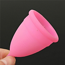Lady Women Reusable Silicone Menstrual Cup Period Soft Medical Diva Cups Pink