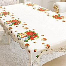 Christmas Disposable Tablecloth Bells Type Table Cover for Festival Parties