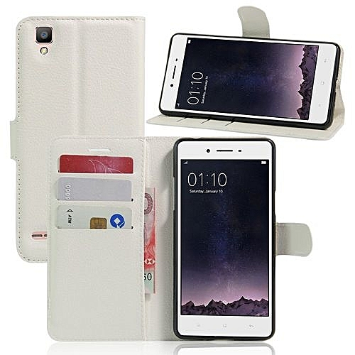 Buy Generic Pu Leather Wallet Case Cover For Oppo F1 A35 White