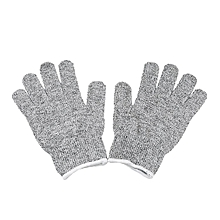 A Pair Cut Resistant Gloves Gardening Gloves HPPE Level 5 Resistance to Cutting Gloves Anti Abrasion Safety Working Gloves Level 5 Anti-Abrasion Gloves, Size: L, Length: 24cm