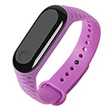 Xiaomi Band 3 Smart Wristband Bracelet Replacement Band Silicone TPU Strap Wristband Purple