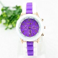 Watch Rubber Candy Jelly Fashion Unisex Silicone Quartz(Purple)