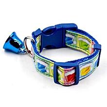 The New Christmas Design Pet Dog Collar Christmas Pet Collars Dog Collar Blue L