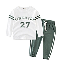 Children's wear spring 2018 new children's suit boys' long sleeves sports pants children's two piece set