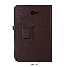 Silk Stand  Flip Case Cover For Samsung Galaxy Tab A 10.1 (2016) SM-P580 /P585 Artificical